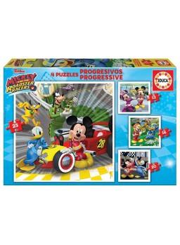 Puzzle progresivo Mickey Mouse superpilotos.