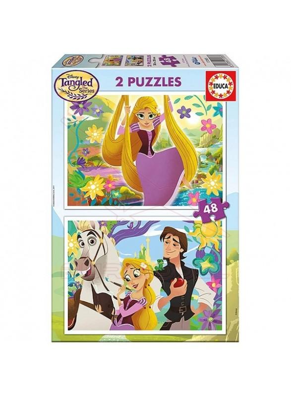 Puzzle 2x48 Tangled Enrredados.