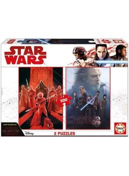 Puzzle 2x500 Star Wars The Last Jedi.