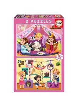 Pijama Party Puzzle infantil 2x20