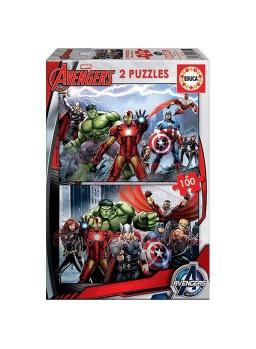 Puzzle 2x100 piezas Avengers.