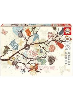 Puzzle Composición floral 500 pzs.