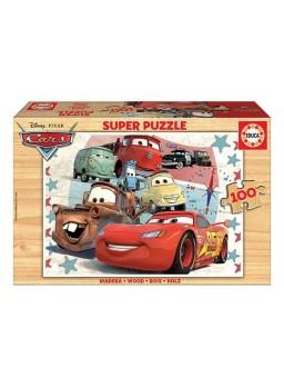 Puzzle pelicula Cars 100 piezas en madera.