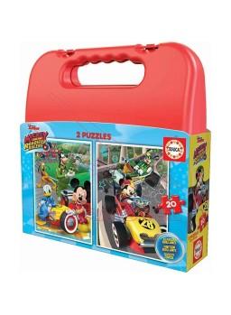Puzzle maleta 2x20 Mickey y los superpilotos.