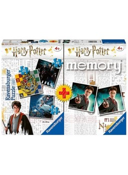 Memory y tres puzzles Harry Potter.