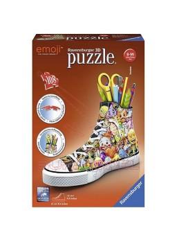 Puzzle zapatilla Emoji portalápices en 3D 106 piezas.