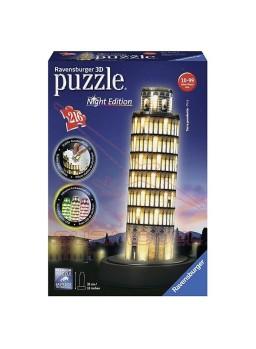 Puzzle 3 dimensiones Torre de Pisa con Luz 216pzs