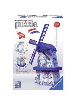 Puzzle 3D Molino Holandés.