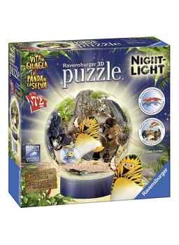 Puzzle 3D lámpara La panda de la selva