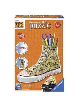 Puzzle 3D portalápices Minions zapatilla.