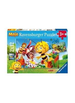 Puzzle infantil la abeja Maya 2x12 piezas.
