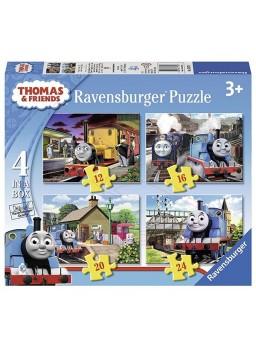 Puzzle infantil Thomas y amigos 4 en 1.
