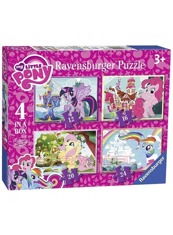 Puzzle infantil Mi pequeño Pony 4 en 1.