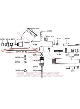 Aguja 0,3 mm para aerógrafos D-102 D-103 y D-116