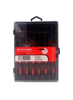 Set de 6 limas para metales y plásticos