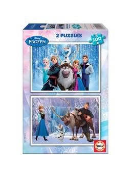 Pack dos puzzles Frozen 100 piezas
