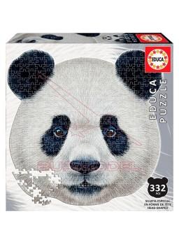 Puzzle Oso Panda con forma de cara 375 piezas