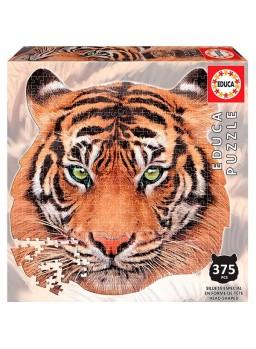 Puzzle Tigre de bengala 375 pzs con forma de cara