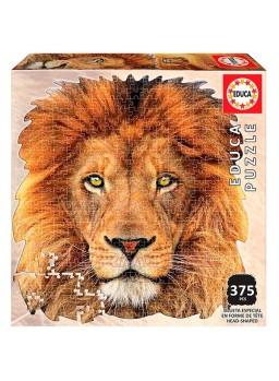 Puzzle con forma de cara León 375 pzs 38x39cm