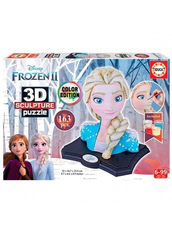 Puzzle 3D Escultura Frozen pinturas incluidas