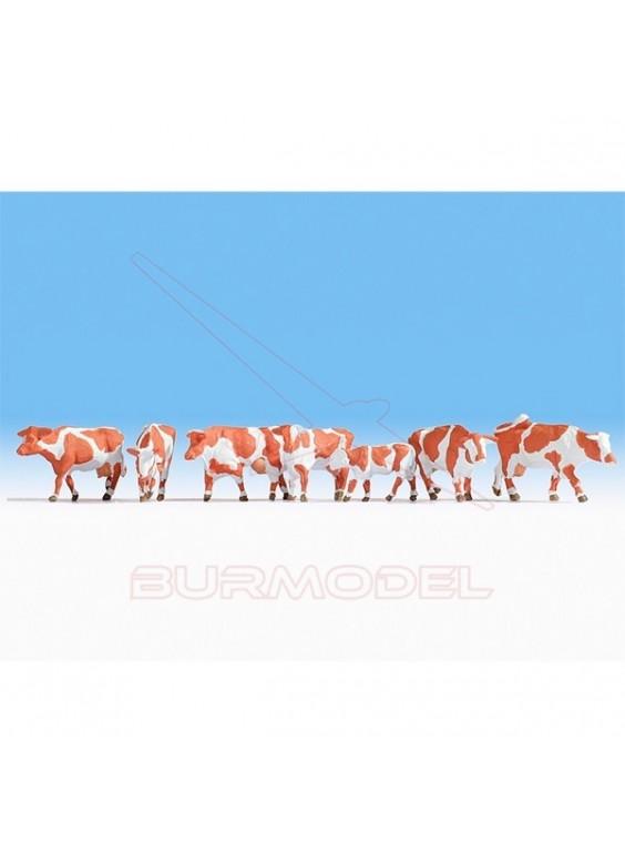 Pack vacas marrón blanco NOCH