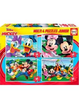 Multi 4 puzzles Mickey 20-40-60-80 pzs