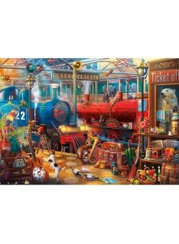 Puzzle enigmático 500 piezas Estación de tren