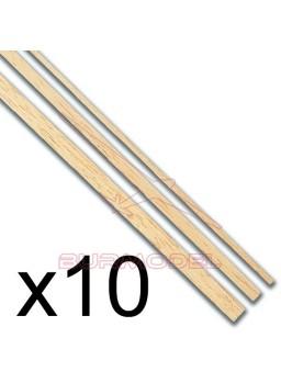 Listón de tilo 1x5 (1 metro) 10 unidades