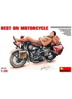 Moto y motorista dormido II GM MiniArt 1/35