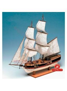 Barco Union con casco macizo 1/100