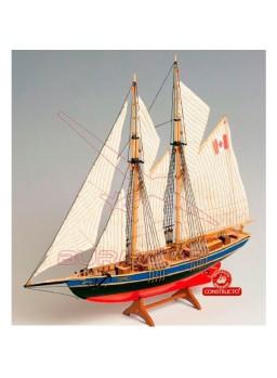Barco Bluenose II con casco macizo 1/135