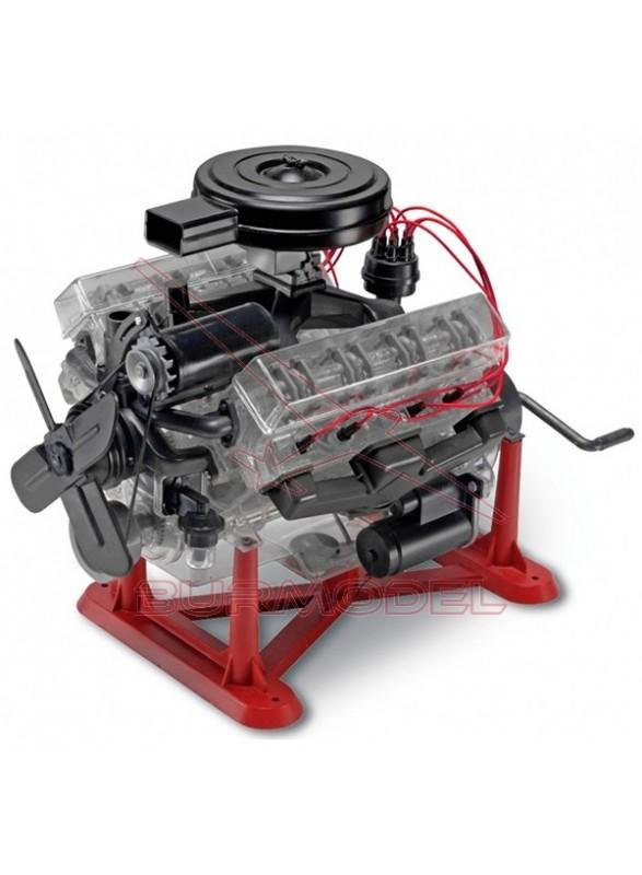 Maqueta motor V8 con manivela