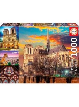 Puzzle 1000 piezas Collage de Notre Dame