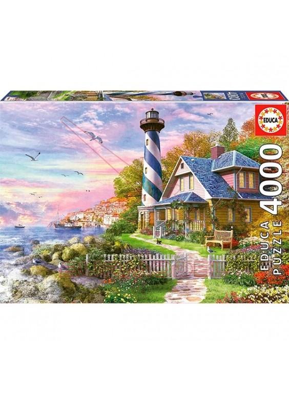 Puzzle 4000 piezas Faro en Rock Bay