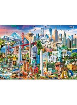 Puzzle 2000 pzs simbolos de Europa