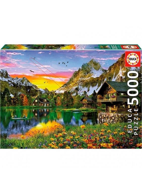 Puzzle 5000 piezas lago alpino