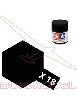 Pintura Tamiya X-18 Semi Gloss Black 23ml