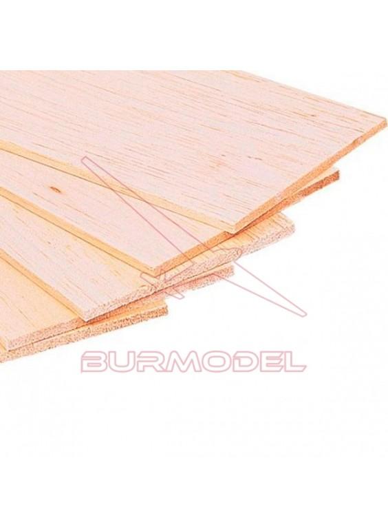 Plancha madera de balsa 100 x 1000 x 20 mm