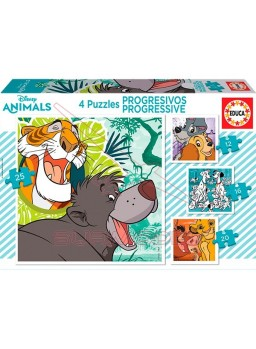 Puzzles progresivos Disney Animals 12,16,20 y 25 p