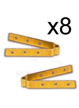 Bisagra latón 3x40 (8 unidades)
