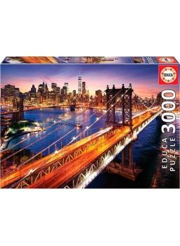 Puzzle 3000 piezas Manhattan al atardecer