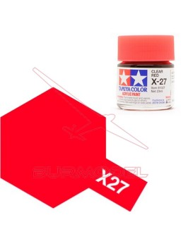 Pintura Tamiya X-27 Clear Red Gloss 23ml