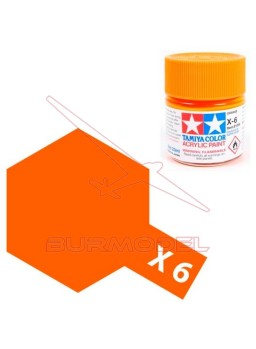 Pintura Tamiya X-6 Orange Gloss 23ml
