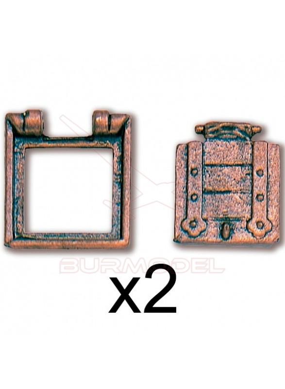 Troneras 12X13mm (2 unidades)
