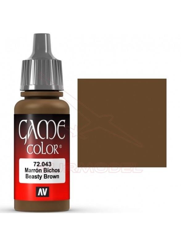 Pintura Game Color Marrón bichos 17ml