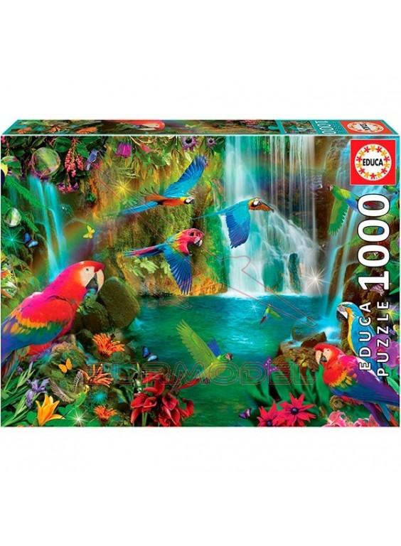 Puzzle 1000 piezas Loros tropicales