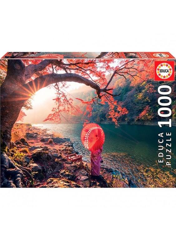 Puzzle 1000 pzs Amanecer en el río Katsura, Japón