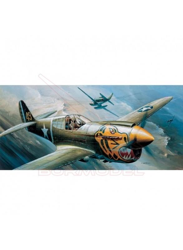 Maqueta Avión P-40E The Fighter of the WWII 1/72