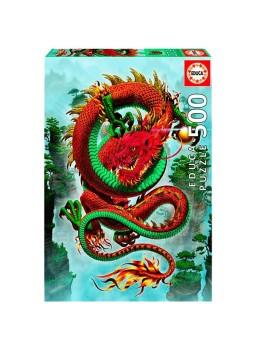 Puzzle 500 piezas El Dragón de la buena fortuna