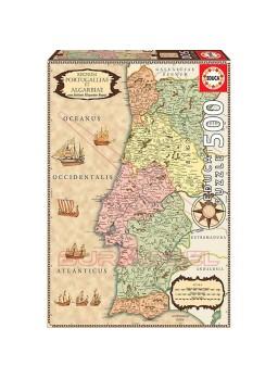Puzzle 500 piezas Mapa histórico de Portugal